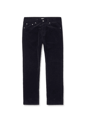 Carhartt WIP - Navy Newel Tapered Cotton-corduroy Trousers - Navy