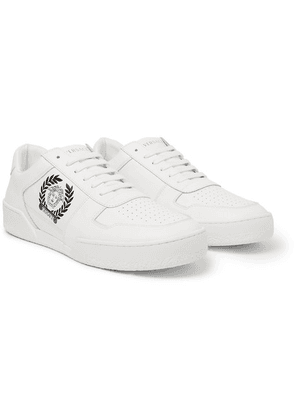 Versace - Logo-print Leather Sneakers - White