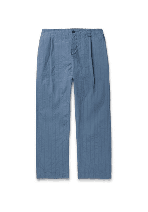 Craig Green - Tapered Quilted Cotton-canvas Trousers - Navy