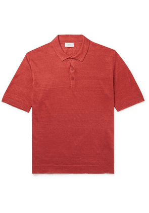 Altea - Linen Polo Shirt - Coral