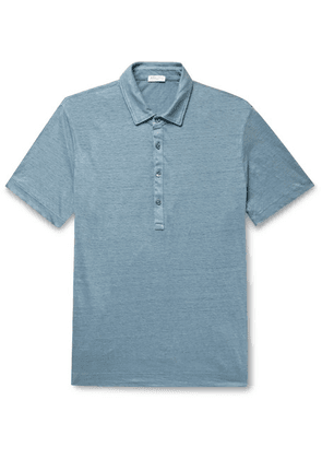 Boglioli - Linen Polo Shirt - Light blue