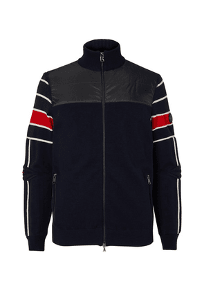 Bogner - Henrik Striped Virgin Wool-blend And Quilted Shell Jacket - Navy