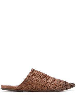Marsèll woven pointed-toe mules - Brown