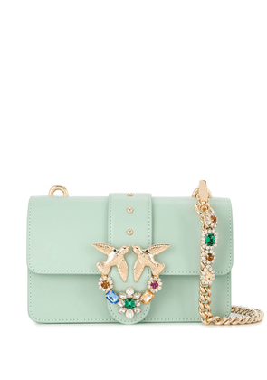 Pinko Love embellished mini shoulder bag - Green