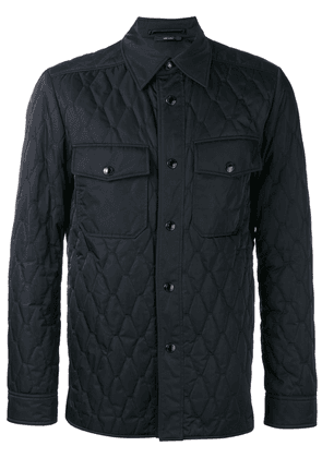 Tom Ford quilted shirt jacket - Blue