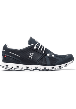 On - Cloud Rubber-trimmed Mesh Running Sneakers - Navy