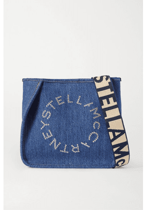 Stella McCartney - Eyelet-embellished Denim Shoulder Bag - Blue