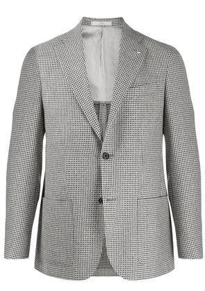 Corneliani single breasted check blazer - Black