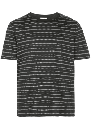 Saint Laurent geometric striped T-shirt - Black