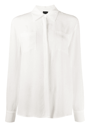 Pinko chest pocket blouse - White