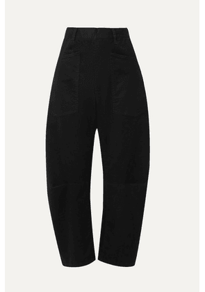 Nili Lotan - Shon Cotton-blend Twill Tapered Pants - Black