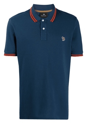 PS Paul Smith stripe detailed polo shirt - Blue