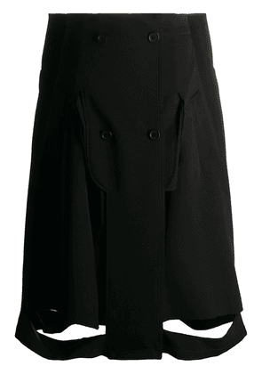 Maison Margiela cut-out A-line skirt - Black