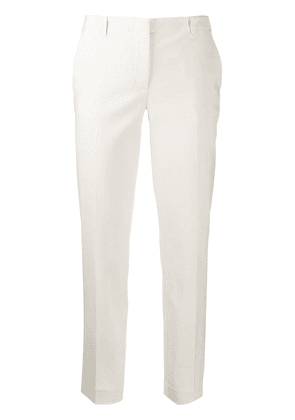 Emporio Armani low-waist tapered trousers - NEUTRALS