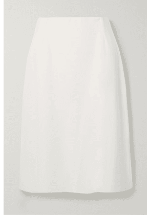 Agnona - Wool, Silk And Cashmere-blend Skirt - White