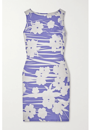 Ioannes - Carrie Floral-print Stretch-jersey Mini Dress - Blue