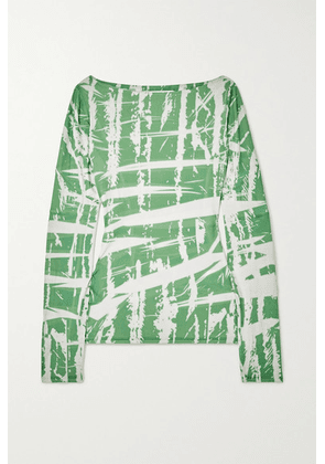 Ioannes - Ink Printed Stretch-jersey Top - Green