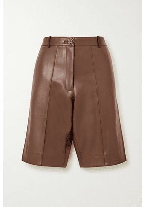 Peter Do - Faux Leather Shorts - Brown