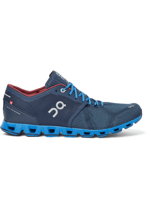 On - Cloud X Mesh Running Sneakers - Blue