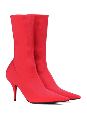 Knife stretch-jersey ankle boots