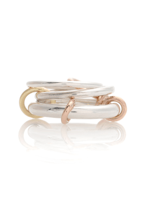 Orion sterling silver and 18k gold linked rings