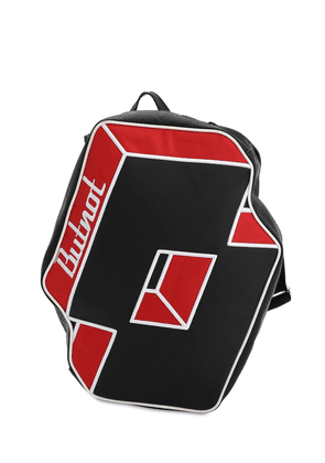 Lotto Logo Faux Leather Backpack