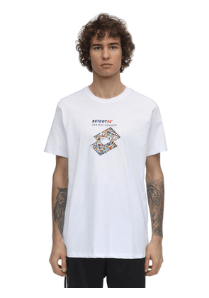 Lotto Flags Printed Cotton T-shirt