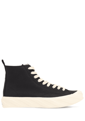Carbon Coated Canvas High Top Sneakers