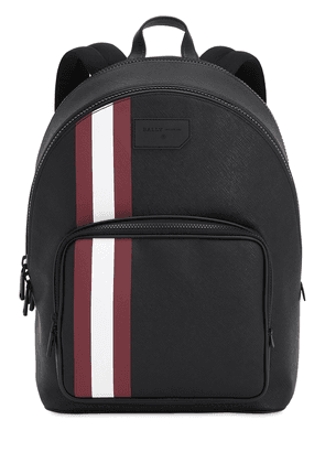 Logo Stripe Faux Leather Backpack