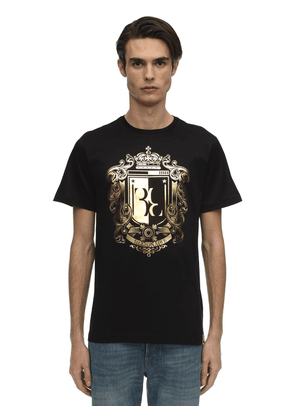 Crest Printed Cotton Jersey T-shirt
