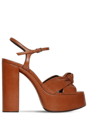 125mm Bianca Leather Platform Sandals