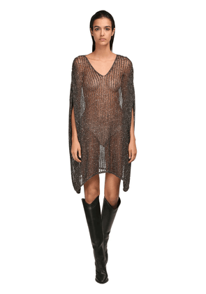 Sequined Knit Mesh Dress