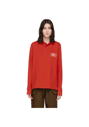 Martine Rose Red Jacquard Polo