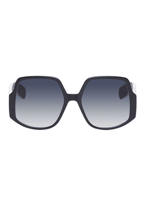 Dior Black and Pink Oversized DiorInsideOut1 Sunglasses