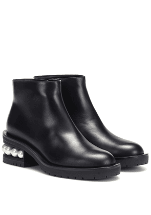 Casati 35mm leather ankle boots