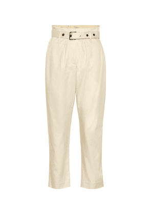 Cotton high-rise cropped pants