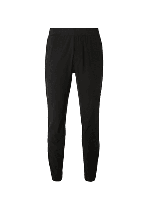 Lululemon - In Mind Slim-fit Tapered Mesh-panelled Stretch-jersey Yoga Sweatpants - Black
