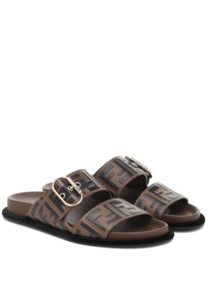 FF leather sandals