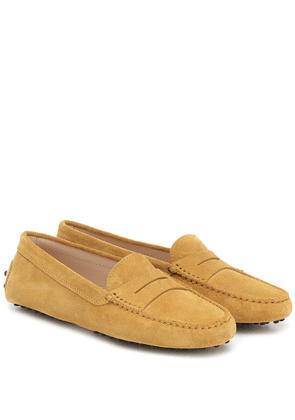 Gommino suede loafers
