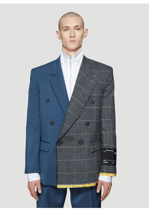 Off-White Reconstructed Tailored Blazer in Grey size EU - 46