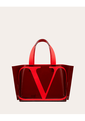Valentino Garavani Small Vlogo Coloured Polymer Beach Bag Women Maroon 100% Pelle Di Vitello - Bos Taurus OneSize