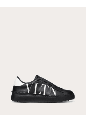Valentino Garavani Vltn Open Sneaker In Calfskin Leather Women Black Calfskin 100% 35
