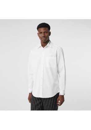 Burberry Logo Detail Cotton Poplin Shirt, White