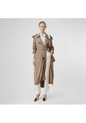 Burberry Jersey Wrap Coat, Beige