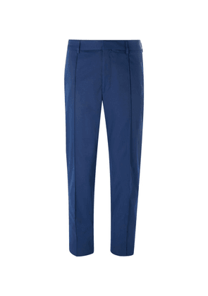 Hugo Boss - Blue Paco Cropped Slim-fit Twill Trousers - Navy