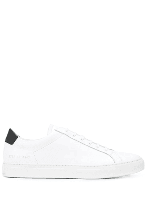 Common Projects two tone low top sneakers - White
