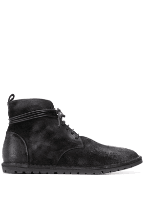 Marsèll textured lace-up boots - Black
