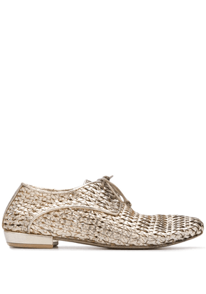 Marsèll metallic woven lace-up shoes - GOLD