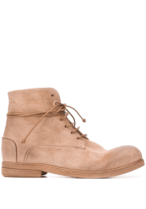 Marsèll textured lace-up boots - Brown