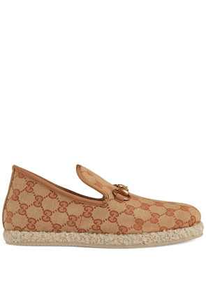Gucci GG print loafers - NEUTRALS